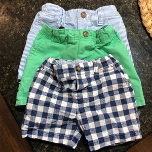 Carters boys 12 month shorts bundle